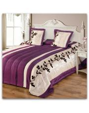 Narzuta na łóżko Elana 200x220 kremowo-fioletowa  w sklepie Dedekor.pl
