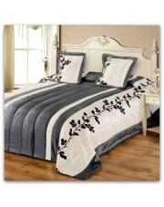 Narzuta satynowa na łożko Elana 220x240 grey w sklepie Dedekor.pl
