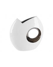 Wazon ceramiczny kolor biało-srebrny w sklepie Dedekor.pl
