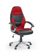 Wygodny fotel gabinetowy MANUEL czarno-czerwony