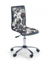 Krzesło młodzieżowe FUN biało-czarny