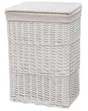Biały kosz wiklinowy 66x48x35 cm w sklepie Dedekor.pl