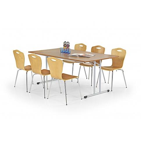 Duży stół GORDN buk w sklepie Dedekor.pl