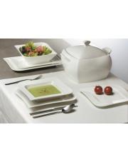 Porcelanowy serwis obiadowy Fala 42 elem.  w sklepie Dedekor.pl