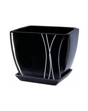 Donica ceramiczna czarna 15 cm