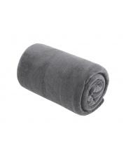 Miękki koc z mikrofibry szary 130x160 cm w sklepie Dedekor.pl