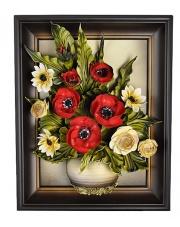 Obraz ze skóry kwiaty 3.317 w sklepie Dedekor.pl