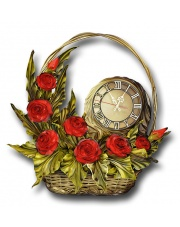 Zegar Stojący 33ZE kosz z kwiatami w sklepie Dedekor.pl