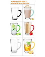 Szklanki Latte Do Kawy Herbaty Komplet 6szt