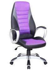 Fioletowo - czarny fotel gabinetowy ACHILES w sklepie Dedekor.pl