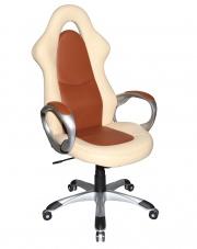 TRAJAN fotel gabinetowy kremowo-brązowy w sklepie Dedekor.pl