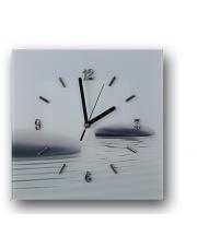 Nowoczesny zegar szklany kamienie 25x25 cm  w sklepie Dedekor.pl