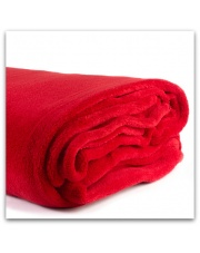 Czerwony koc narzuta mikrofibra 160x200 cm