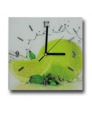 Szklany zegar 33x33 cm  w sklepie Dedekor.pl