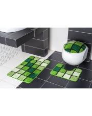 Zestaw dywaników łazienkowych BORNEO N80 zieleń w sklepie Dedekor.pl