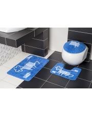 Niebieski dywanik do łazienki BORNEO N85 w sklepie Dedekor.pl