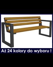 Ławka parkowa z oparciem 180cm w sklepie Dedekor.pl