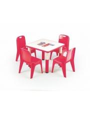 Czerwony stolik dla dziecka FLAPI w sklepie Dedekor.pl