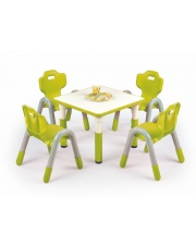 Świetny stolik dziecięcy RUMBI zieleń w sklepie Dedekor.pl