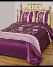 Elegancka narzuta na łóżko 220x240 cm fiolet