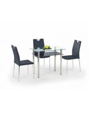 LESTER stół bezbarwny/czarny 90x60 w sklepie Dedekor.pl