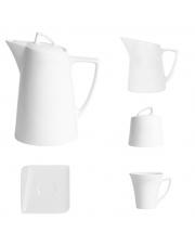 QUARTE biały zestaw kawowy - 15 el. w sklepie Dedekor.pl