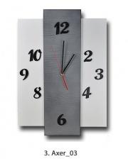Nowoczesny zegar drewniany duży AXER