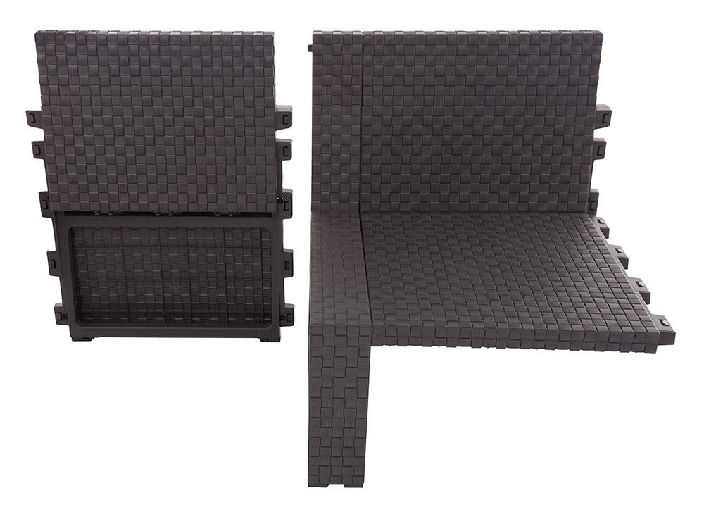 Komplet mebli ogrodowych RATTAN , Stoły z krzesłami, Meble ogrodowe