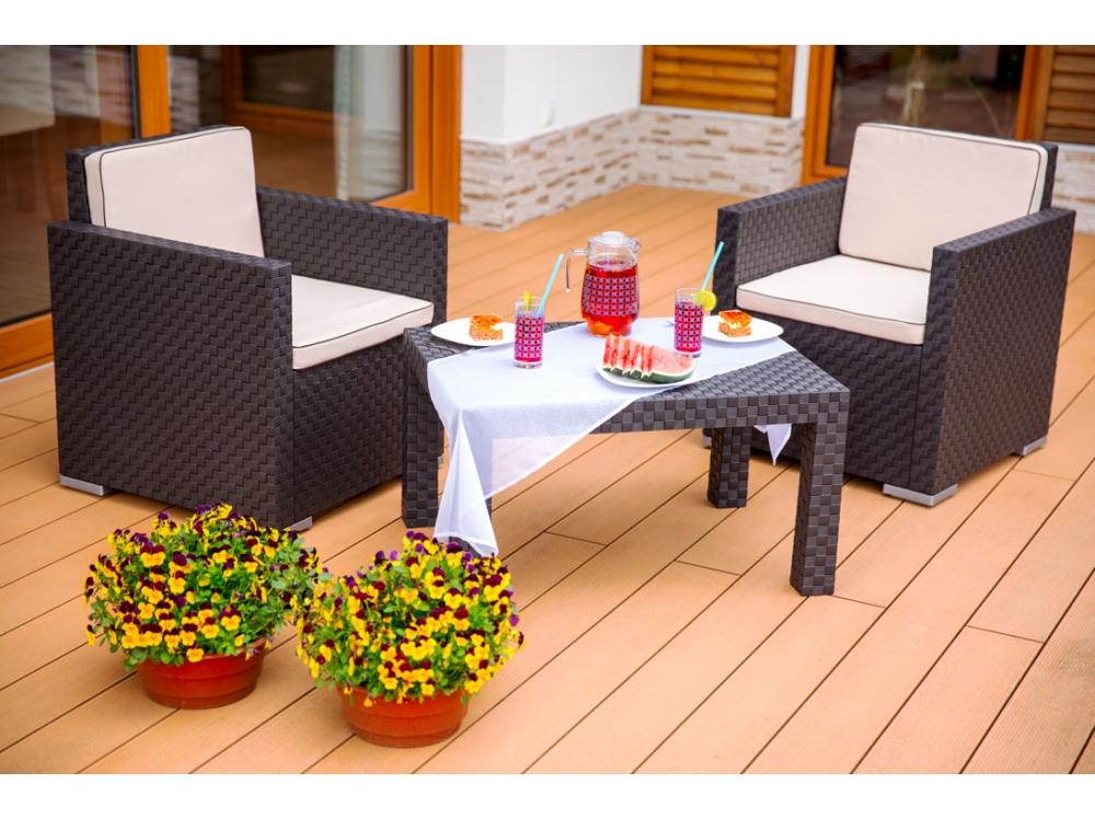 Komplet Mebli Ogrodowych Lima Patio : Komplet mebli do ogrodu PATIO , Stoły z krzesłami, Meble ogrodowe