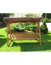 Huśtawka ogrodowa drewniana 4 osobowa