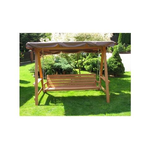 Huśtawka ogrodowa drewniana 4 osobowa w sklepie Dedekor.pl