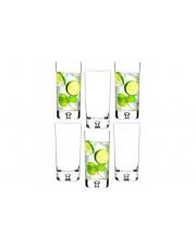 Komplet 6 szklanek Long drink 300 ml saga krosno