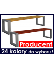 Ławka drewniana bez oparcia 150 cm  w sklepie Dedekor.pl