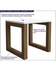 Skandynawski stolik drewniany ROZEN - kolory w sklepie Dedekor.pl