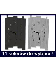 Zegar ścienny drewniany skandynawski - kolory