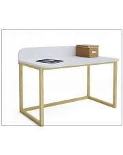 Skandynawskie biurko białe Inelo-X6  w sklepie Dedekor.pl