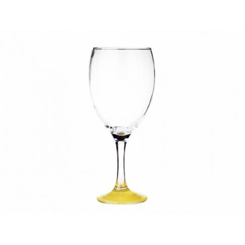Kieliszek do wina żółte dno 620 ml w sklepie Dedekor.pl