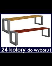 Nowoczesna ławka ogrodowa bez oparcia 180 cm w sklepie Dedekor.pl