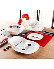 Serwis Obiadowy Kyoko Biały 19elem