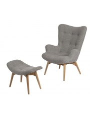 Komfortowy fotel z podnóżkiem LARF w sklepie Dedekor.pl