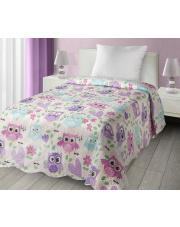 Narzuta na łóżko sowy