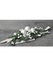 Przepiękny biały stroik świąteczny w sklepie Dedekor.pl