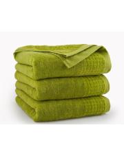 Limonkowy ręcznik z bawełny PAULO 10 x 140 cm w sklepie Dedekor.pl