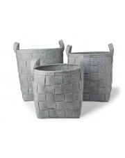 Komplet trzech koszy z filcu w sklepie Dedekor.pl