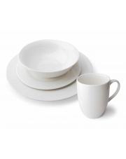 Biały serwis obiadowy - 24 części w sklepie Dedekor.pl
