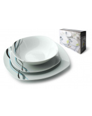 Kwadratowy zestaw obiadowy - 18 części w sklepie Dedekor.pl