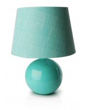 Turkusowa lampa stołowa 33x24 cm w sklepie Dedekor.pl
