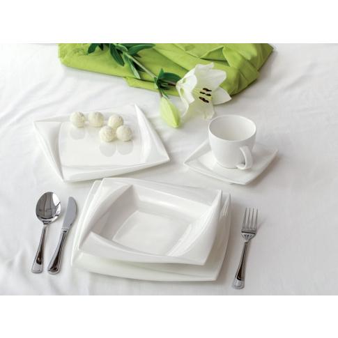 Gustowny komplet obiadowy DIVA - 30 elementów w sklepie Dedekor.pl