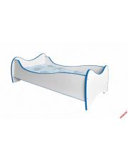Komfortowe łóżko dziecięce MILKY biało-niebieskie w sklepie Dedekor.pl