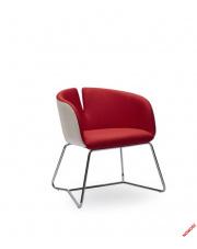 Nowoczesny fotel RANDI - czerwony w sklepie Dedekor.pl